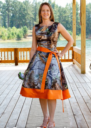 knee length realtree camo bridesmaid dress camouflage gowns ...