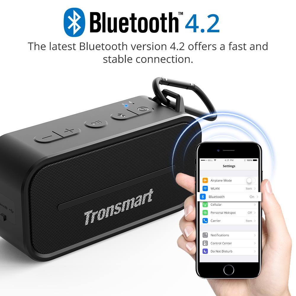 Original Tronsmart Element T2 Bluetooth 4.2 Outdoor Water Resistant Speaker Portable Mini Speaker for IOS Android Xiaomi Phones