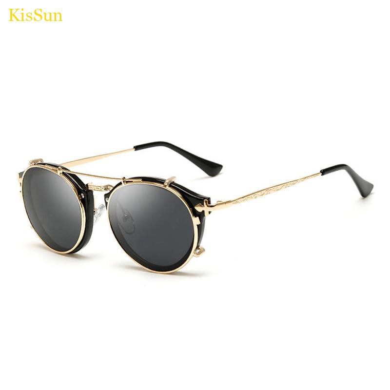 2017 Baru Kedatangan Vintage Steampunk Kacamata Cermin Kacamata Hitam - Aksesori pakaian - Foto 1