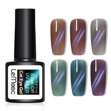 LEMOOC 8ml Blue Line 3D Cat Eye Gel Polish Jelly Magnetic Odorless Soak Off UV Varnish Nail Art Manicure DIY Design