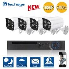 Techage 8CH/4CH 1080 P HDMI de Salida DVR CCTV Sistema 4 UNIDS 2400TVL Impermeable Al Aire Libre de la Seguridad Casera de La Cámara de Vídeo Kit de vigilancia