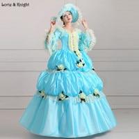 Небесно Голубой королевская принцесса бальное платье S Свадебное платье Праздничное платье маскарад бальное платье Пышное Платье