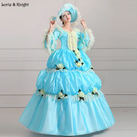Ciel Bleu Princesse Royale Boule Robes De Mariée Robe Pageant Robe Mascarade Robe De Bal Quinceanera Robe