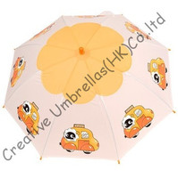 Children umbrella,cartoon design,auto open.8mm steel shaft and fluted ribs,safe&enviroment kid PVC umbrellas,non-toxi