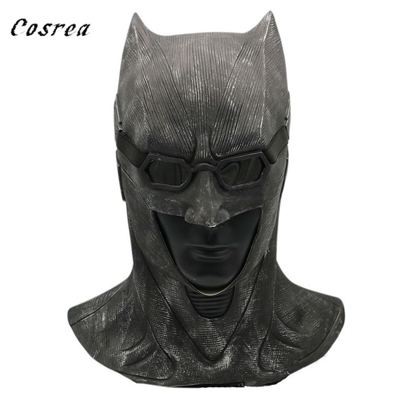 The Dark Knight Rises Batman Cosplay Costume Mask Helmet Superhero Funny Latex Full Face Masks Adult Prop Halloween Party Men