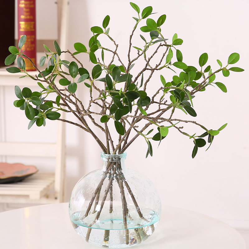 Green Simulation Plants Milan Leaves Home Wedding Party Decoration Artificial Plants Setting Wall Decoration Flower Accessories