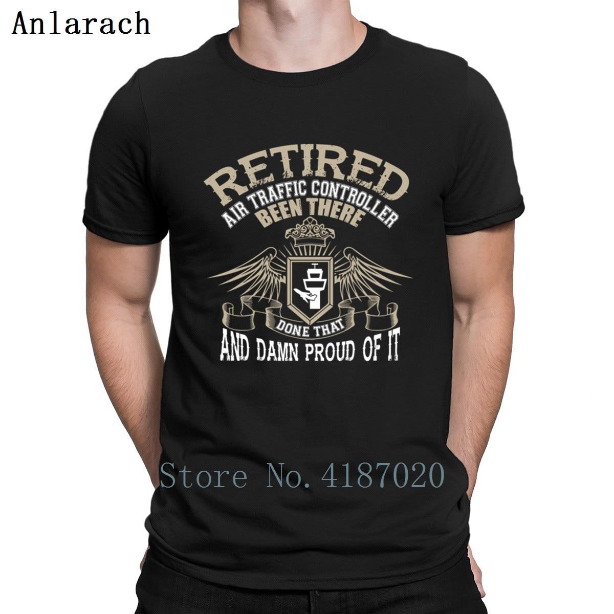 Retired Air Traffic Controller Tshirts Slim Printed Gents Men's Tshirt 2018 Interesting Round Neck Anlarach Hiphop Top
