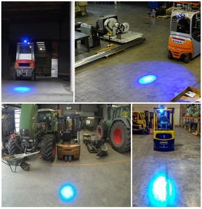 Image 5 - Forklift Blue Safety Lights , Safety Light Blue LED , Forklift Approach Warning Light   LED Blue