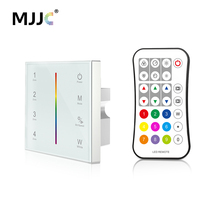 MJJC DMX Controller 512 4CH Zone RGBW DMX512 Master Control Wireless 2.4G RF Remote Wall Mounted Touch Panel Controller T14 1