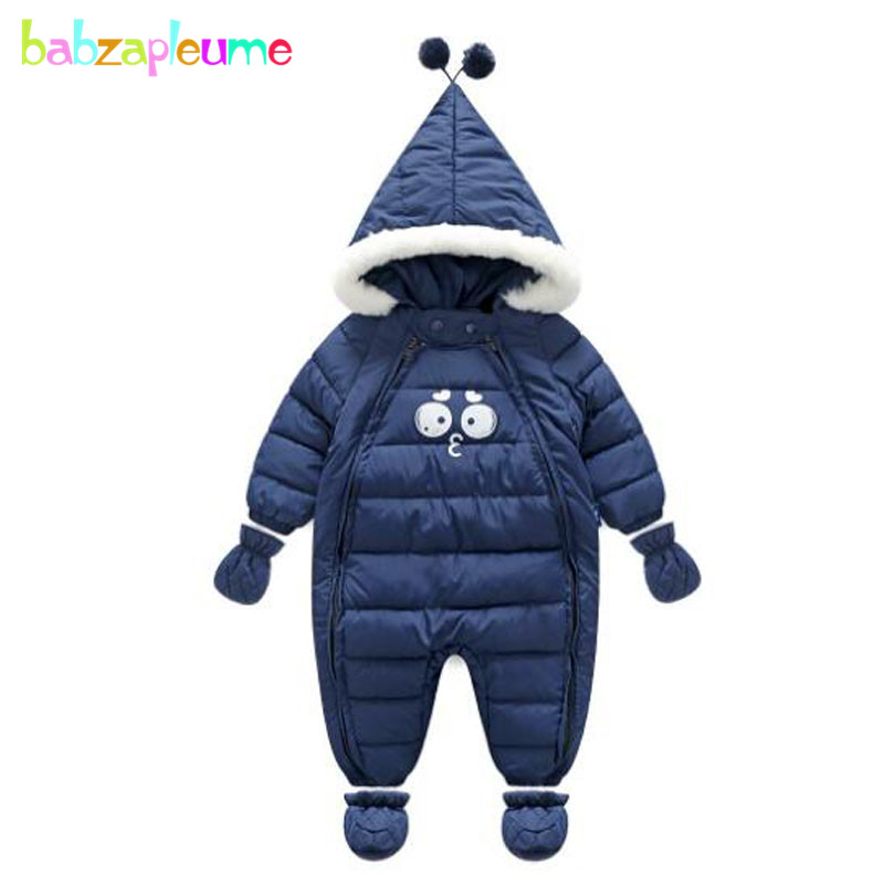 3PCS/Winter Jumpsuit Baby Clothes Christmas Costumes Newborn Rompers Boys Girls Snowsuit+Gloves+Socks Infant Clothing Set BC1535 baby clothes baby rompers winter christmas costumes for boys girl zipper rabbit ear newborn overalls jumpsuit children outerwear