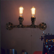 B012 Nordic Loft Style Industrial Water Pipe Wall Lamp For Home Antique Bedside Edison Retro Wall Sconce Indoor Lighting(China)