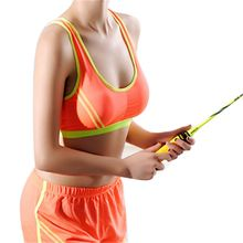 Women Sports Bra Yoga Fitness Tank Tops Racerback Wide Strap Stretch Padded Workout Vest