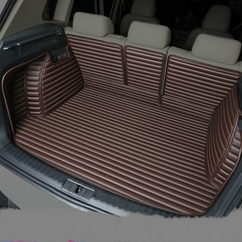 Полностью Покрытые водонепроницаемые ковры для ботинок прочные специальные автомобильные коврики для багажника Lincoln MKX MKZ MKS MKC MKT навигатор Континентальный - Название цвета: Coffee