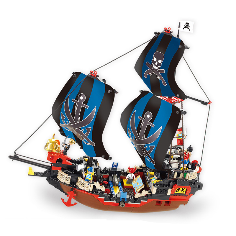 Sluban Model Building Compatible lego Lego B0128 512pcs Model Building Kits Classic Toys Hobbies Pirates 14012 model building kits compatible with lego knights clay s rumble blade jestro model building toys hobbies 70315