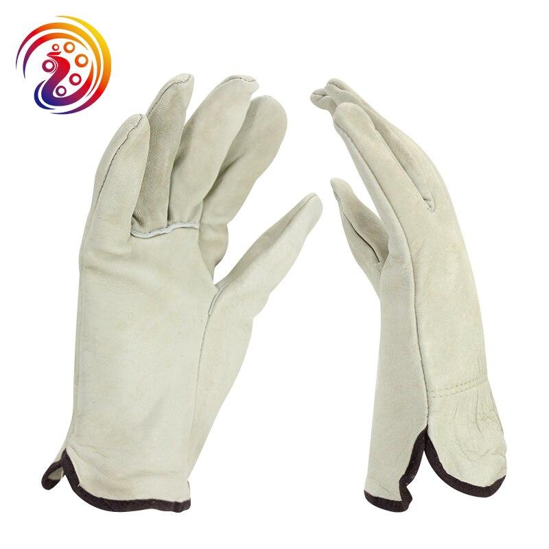OLSON DEEPAK Cow Leather Handling Industry Factory Drive Gardening Work Gloves HY003 Free Shipping rf cushman cushman handling fidelity