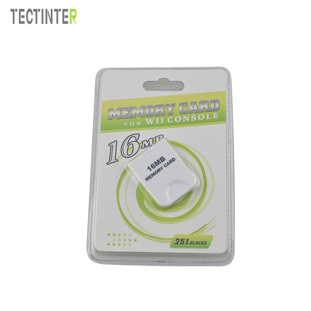 High Quality 16MB Memory Card For Wii Console White 16M Storage Save Saver GameCube