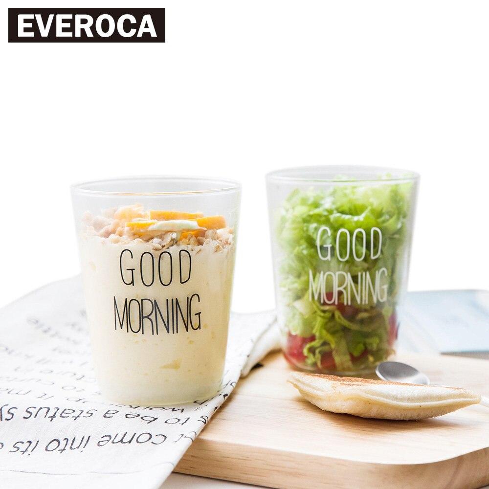 커피 우유 투명 유리 컵 아침 과일 컵 아침 열 차 붕규산 유리 컵