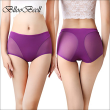 BllooBeell  Women's Sexy Underwear Panties Summer Lady Hollow Out Mid Rise Underpants Girl Lace Briefs Crotch Cotton Size L/XL