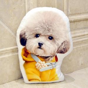 Image 3 - Almohada de personalización de fotos, almohada de viaje creativa para mascotas, foto almofada oreiller, sujeción en forma de almohada, decoración de boda, animal, perro