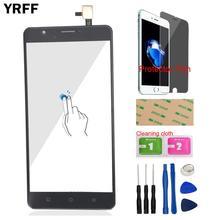 YRFF TouchGlass przód do Oukitel U16 Max ekran dotykowy szklany Panel digitizera narzędzia zamienne bezpłatna folia ochronna z klejem