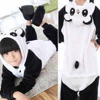 Детские пижамы кигуруми с пандой, комбинезон, детские пижамы с Пикачу, костюм для сна, пижама с капюшоном с аниме для девочек и мальчиков, пиж...