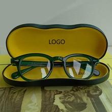 Мужские очки от Jonny Depp, ацетатная оправа для очков, женские фирменные дизайнерские компьютерные прозрачные оптические очки, оправа, высокое качество, коробка 081