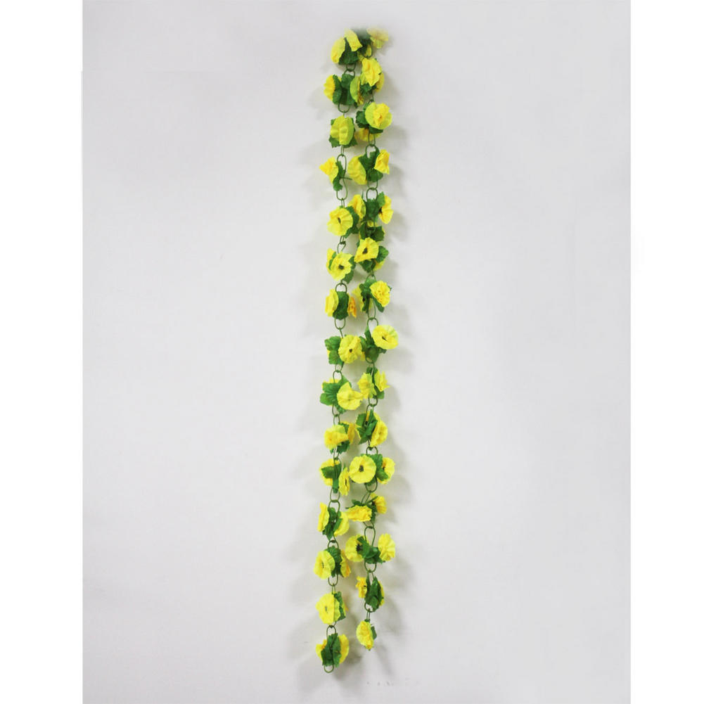 Hot Fake Yellow Flowers Artificial Leaf Vine Wall Home Wedding Fl Decor In Decorative Wreaths From Garden On Aliexpress