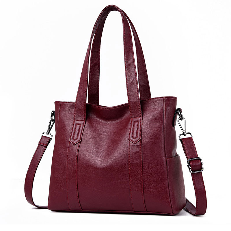 GüNstig Einkaufen Heißer Verkauf Frauen Aus Echtem Leder Schulter Tasche Für Frauen Casual Tote Tasche Weichen Schaffell Handtaschen Weibliche Große Große Umhängetasche Sac