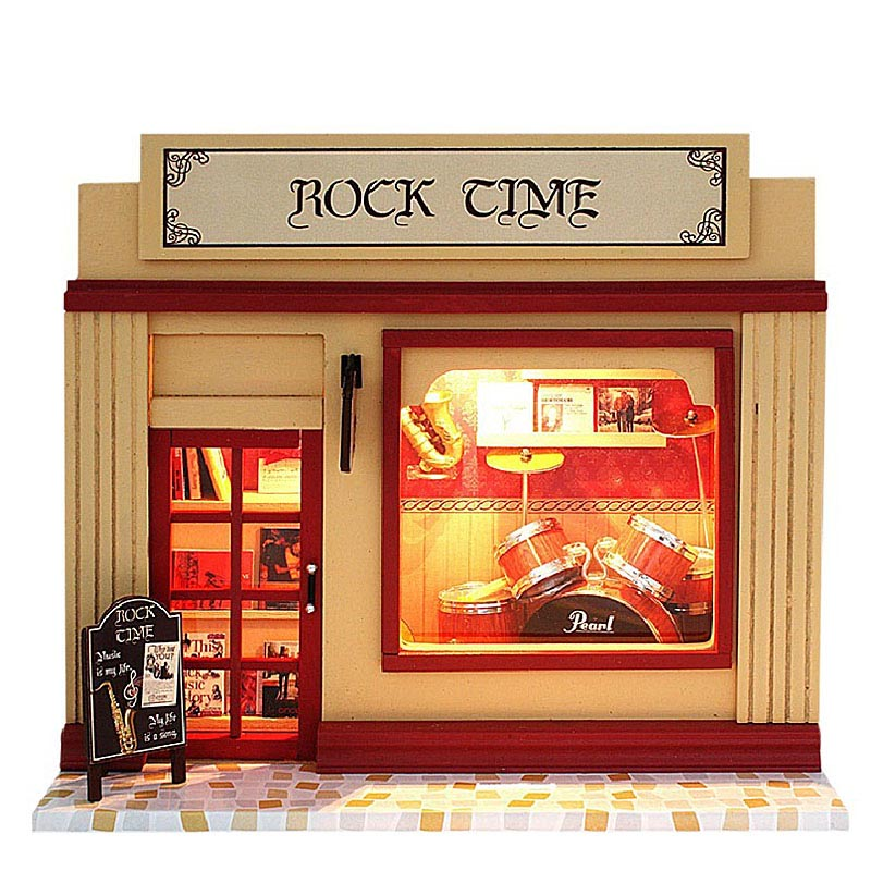 Europe Shop Model Kit Rock Time Assemble Miniature