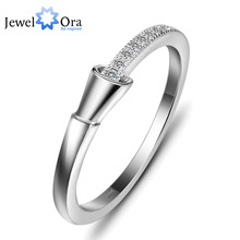 Genuine 925 Sterling Silver Lady Rings Delicate Brand Silver Cubic Zirconia Ring For Women (JewelOra RI101427  )