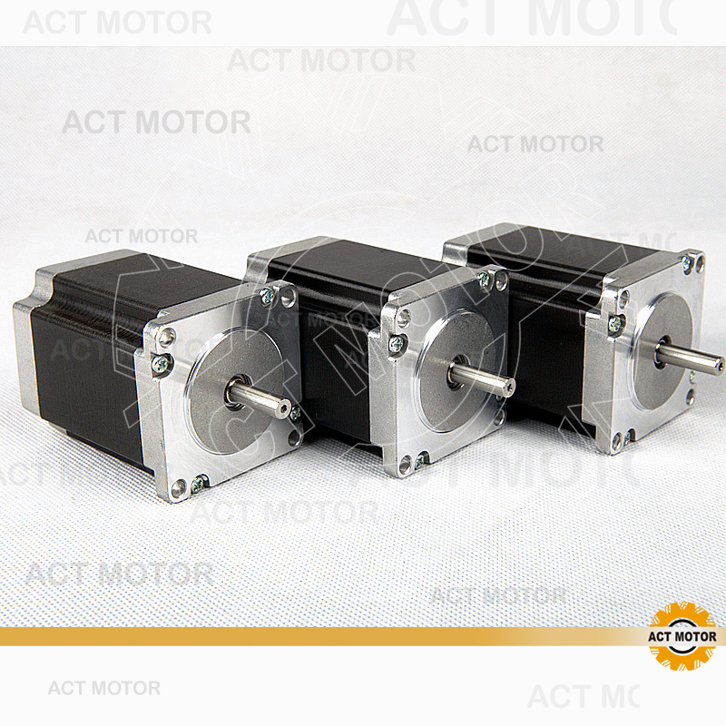 цены  Free Ship From Germany! ACT 3PCS Nema23 Stepper Motor 23HS8630 Single Shaft 6-Lead 270oz-in 76mm 3A CE ISO ROHS Printing Laser