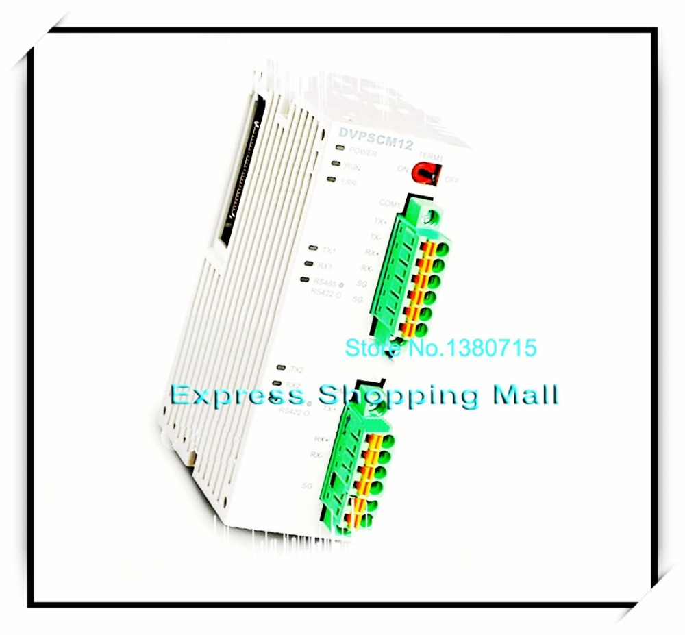 New Original DVPSCM12-SL Delta PLC RS-485 RS-422 serial communication module new fx3u 422 bd plc communication board