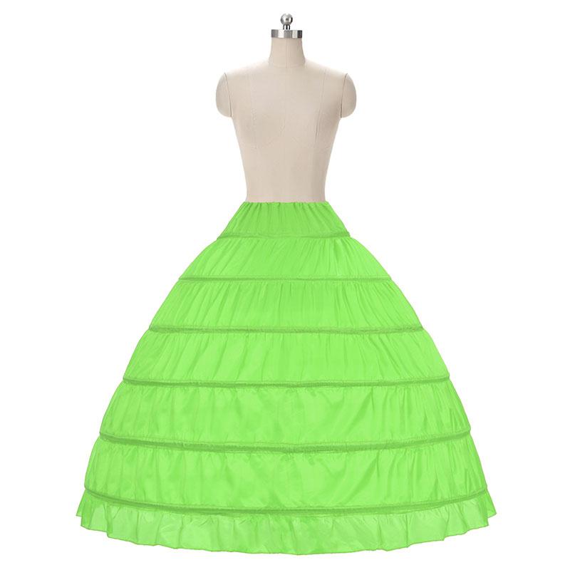 2018 HOT koop 6 Hoop Petticoat Onderrok Voor Baljurk Trouwjurk - Bruiloft accessoires - Foto 6