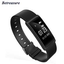 Betreasure N108 смарт-браслет Приборы для измерения артериального давления сердечного ритма Мониторы SmartBand Водонепроницаемый IP67 Смарт Браслет переносной для Android