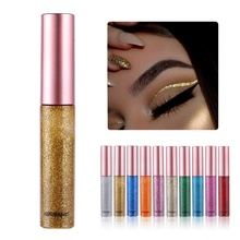 2019 Professional Shiny Eyeliner Long Lasting Waterproof Shimmer Glitter Liquid Eye Makeup