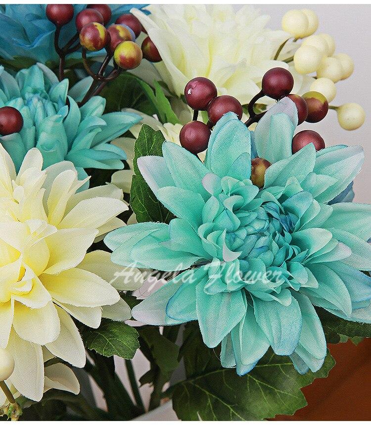 Bright mix 6 head/bouquet Large chrysanthemum atificial flower ...