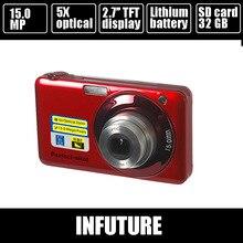20mp цифровая камера с 8-кратным оптическим зумом, 4x цифровым зумом и литиевая Аккумуляторная батарея камеры