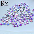 shiny crystal AB Mixed size 3D SS3 SS5 SS16 SS20 Nail art decoration 1000pcs/pack faceted silver backs glass crystal rhinestones