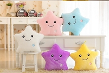 Light-Up Plush Stuffed Pentagram Toy Cushion Pillow With LED Light Inside /Party Birthday Christmas Gift Giving Battery Excluded
