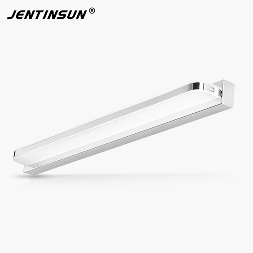 58cm Modern Wall Lamp 9W Fillet Angle Style Bathroom LED Mirror Light Stainless Wall Sconce Light Jentinsun Factory Wholesale modern led bathroom light stainless steel led mirror lamp dresser cabinet waterproof sconce indoor home wall lighting fixtures