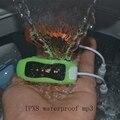 16 GB natação mergulho Waterproof MP3 Player Underwater Sport MP3 Players de música Mini clipe * FM fones de ouvido de rádio frete grátis