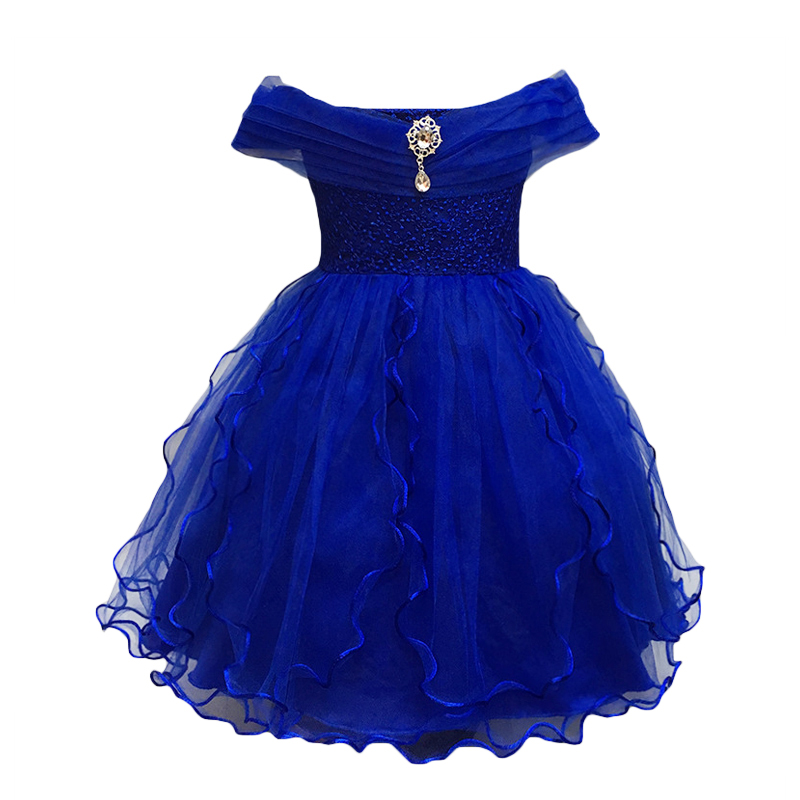 Children Girl Party Dress Wedding Christmas Evening Formal dresses Kids Sleeveless Flower Dresses for girls 3-10 years Princess baby girls party dress 2017 wedding sleeveless teens girl dresses kids clothes children dress for 5 6 7 8 9 10 11 12 13 14 years