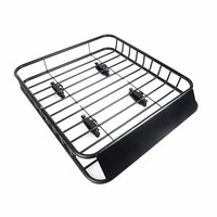 112cm Universal Car Roof Rack Basket Powder Coated Steel Basket Cargo Luggage Carrier Roof Racks Boxes