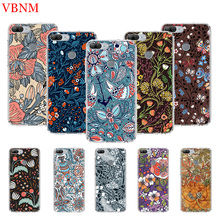 Deep Color Flowers Printing Protect Phone Case For Huawei Honor 8X 20 9 10 lite 8A Pro 10i 20i 8S V20 Y5 Y6 Y7 Y9 2019 Prime Fit