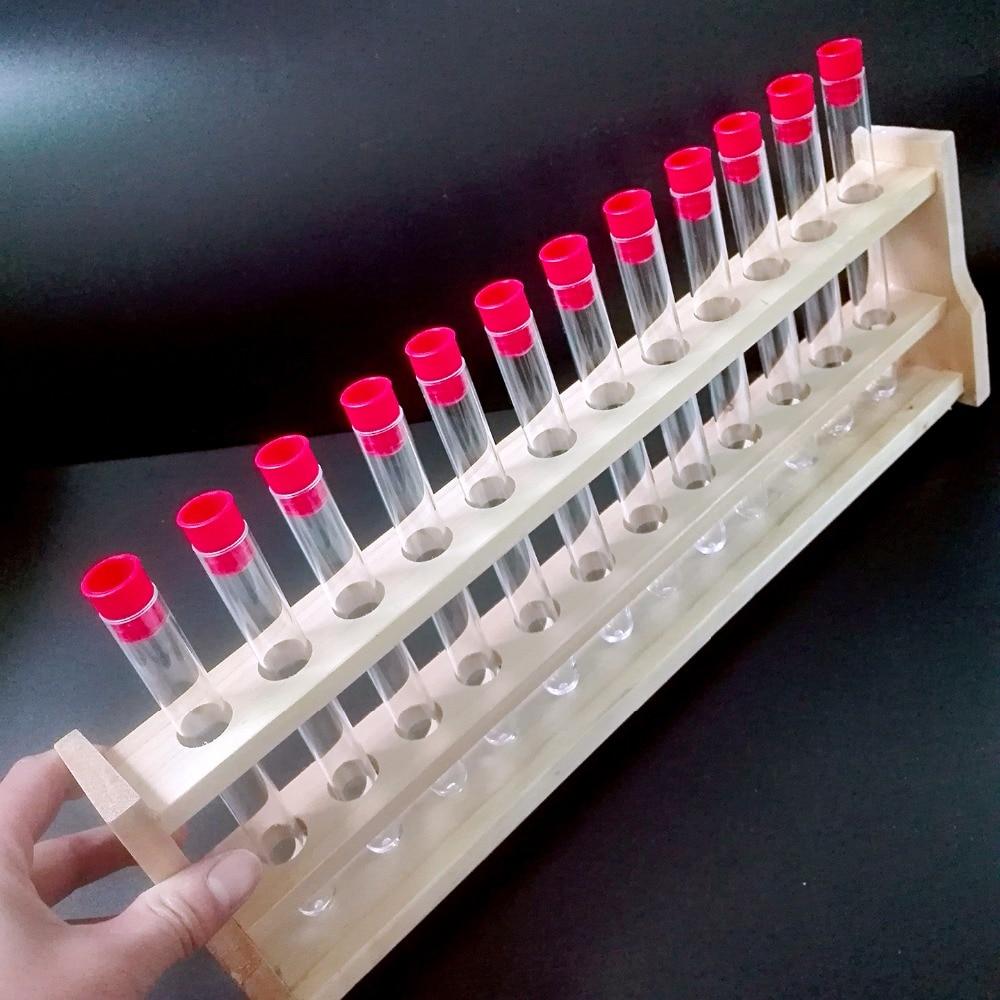 30 kosov prozorne plastične epruvete z rdečo kapico 16x150mm spodnji dolgi prozorni testni laboratorij U-izobraževalni material