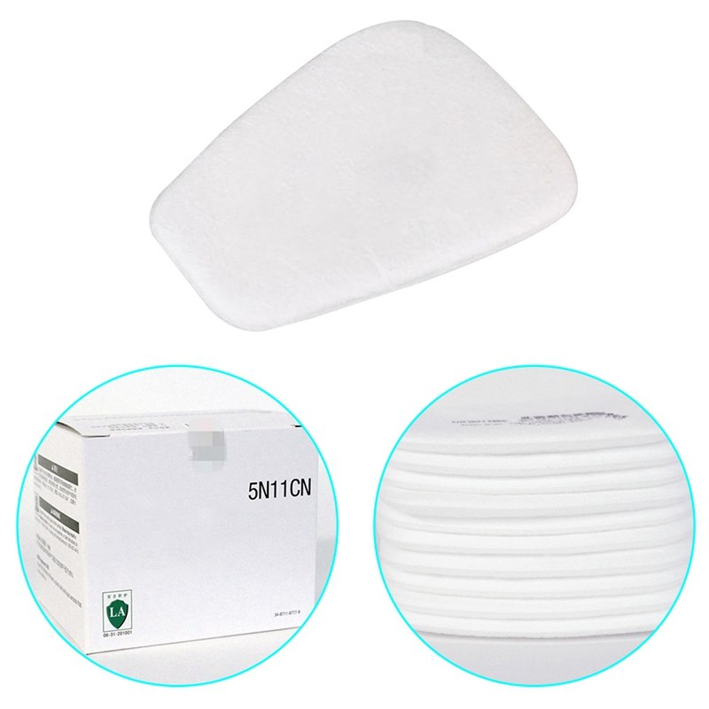 10pcs 5N11 Particulate Cotton Filter Face Gas Mask Filter Paper Anti Haze Mouth Mask Anti Dust Mask Filter Paper Health Care