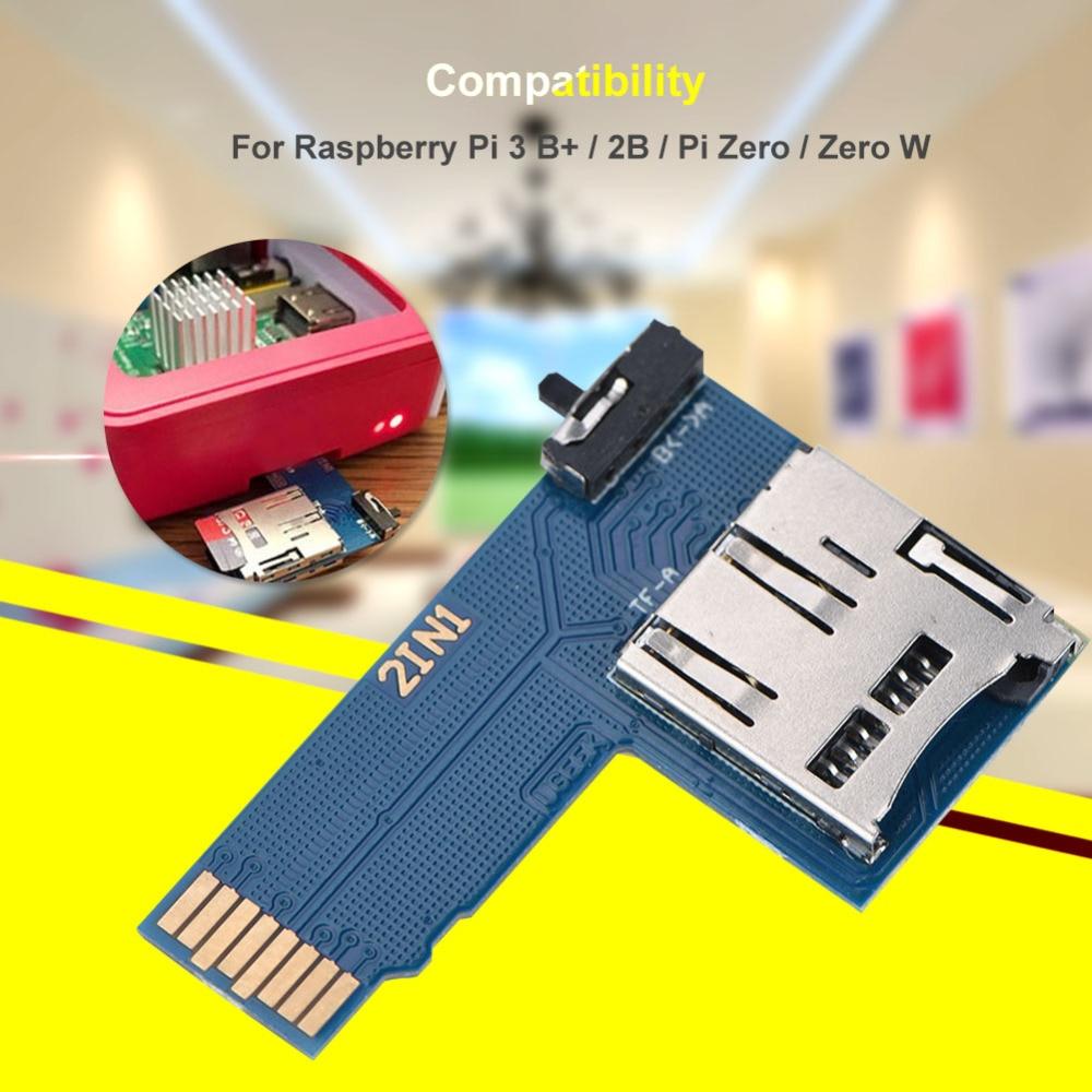 Computer-peripheriegeräte Dual System Dual Tf Karte Switcher Adapter Memory Board Für Raspberry Pi B /2b/3b Jahre Lang StöRungsfreien Service GewäHrleisten Kvm-switches