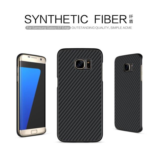 8507ed0fc For samsung galaxy s7 edge case Nillkin synthetic fiber Cell phone case  Hard Carbon Fiber PP
