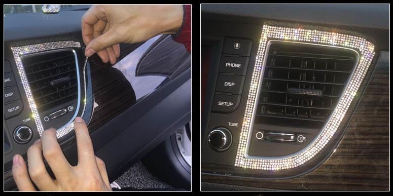 24 * 20cm Crystal Diamond Rhinestone Αυτοκίνητο / - Τέχνες, βιοτεχνίες και ράψιμο - Φωτογραφία 5