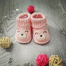 Обувь для новорожденных мальчиков и девочек; 100% хлопок; носки
